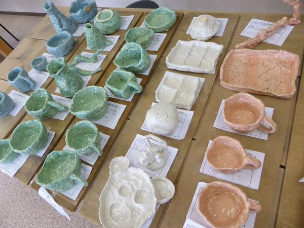 陶芸体験での作品例
