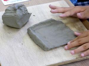陶芸体験の風景